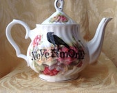 Nevermore Raven Tea Pot Teapot