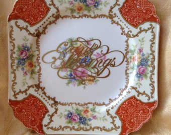Count Your Blessings Repurposed China Plate Decoration