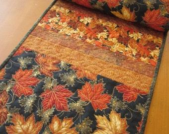 Quilted Table Runner, Fall Colors, Maple Leaves, Table Runner, Handmade Runner, Home Decor, Autumn Table Runner, Table Decor, Fall Decor