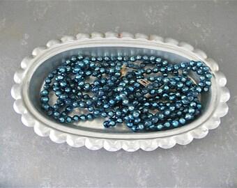Vintage Mercury Glass Beads, Glass bead garland, aqua, turquoise