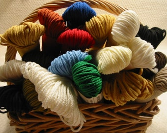 vintage 'Lily' Macra-Cord . . 100 %  polypropylene . . 50 yards . .various colors . . 1970's . . made in the USA . . price is for one spool