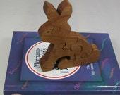 Rabbit Puzzle for Children - Kid's Bunny Puzzle - Wooden Animal Puzzle - Child's Decor