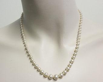 Vintage Creamy Gold Graduated Pearls
