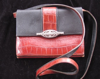 Over the Shoulder Leather Purse / Wallet  Combo