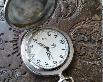 25% OFF ON SALE Pocket watch Molnija from Russia Soviet Union