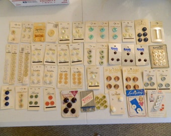 Button Cards lot of 45