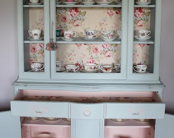 French blue china cabinet
