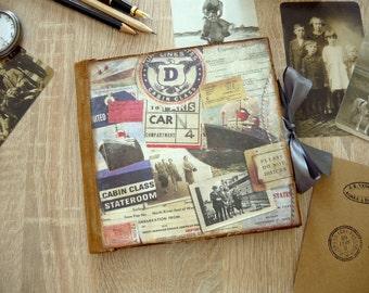 Photo album with self-adhesive corners