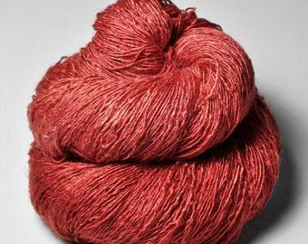 Eating rowan berries - Tussah Silk Lace Yarn