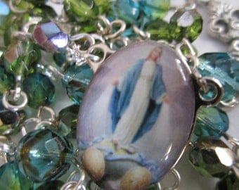 Our Lady of Grace Czech Glass Rosary