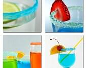 Set of 4 Cocktal Photographs