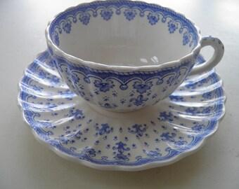 Fleur-de-lis Spode tea cup and saucer