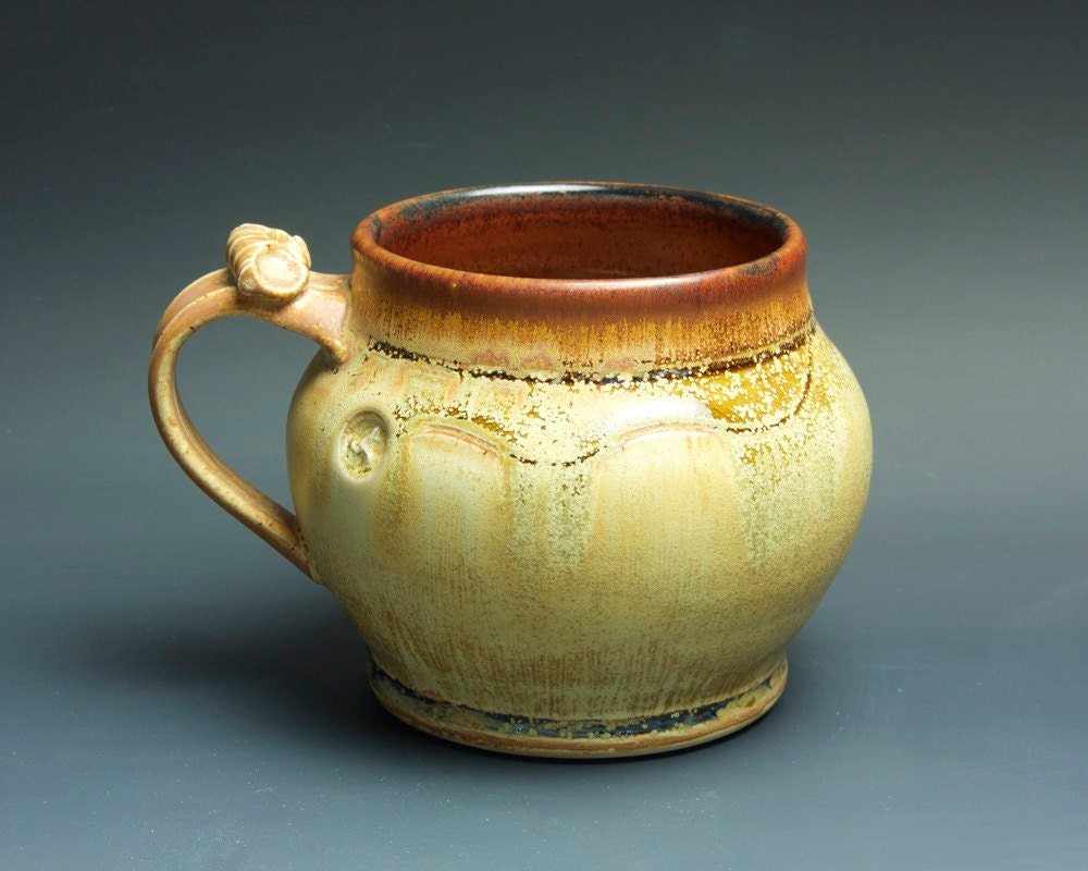 Handcrafted Pottery Beer Mug Ceramic Mug Stoneware Stein