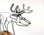 Deer Wire Sculpture, Deer Wire Art, Trophy Buck Wire Sculpture, 261827367