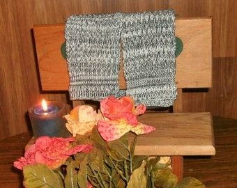 Two Large white and black  Pre-shrunk 100 percent Cotton Machine knit Dish Cloths...11  inches X 12 inches