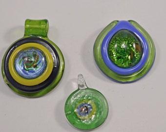 Murano style glass pendants, 2 styles - #1620