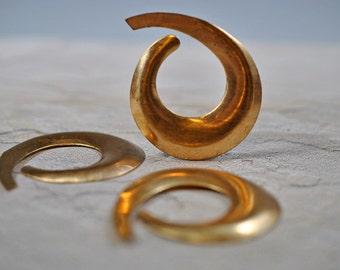 Brass pendants, not drilled, 55mm, #440