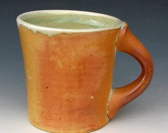WOOD-FIRED MUG - Stoneware Mug - Pottery Mug - Coffee Mug - Wood-Fired Pottery
