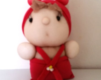 Beautiful handmade doll from socks, decorative doll, stuffed doll, sock toy, sock doll
