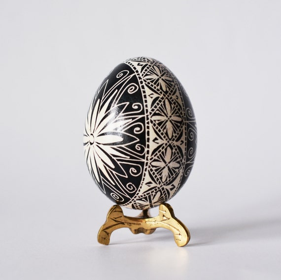 pysanki ukrainian easter egg black and by ukrainianeastereggs
