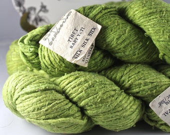 DESTASH Four Skeins Himalayan Yarn Co. Tibet Baby Yeti 100% Silk 4 Skeins