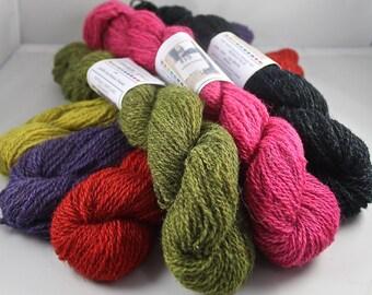 DESTASH Elemental Affects and Judith MacKenzie Natural Shetland Fingering 17 Skeins 6 colors