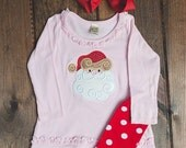 Swirly Santa Christmas Outfit