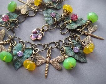 Dragonfly Bracelet - Dragonfly Jewelry - Nature Jewelry - Charm Bracelet - Dragonflies - Nature Bracelet - Dragonfly Jewellery - Nature Gift