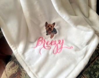 Yorkie Short Cut- Dog Blanket