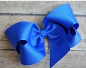 SUMMER SUPER SALE Royal Blue Big 6 Inch Twisted Boutique Bow