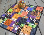 DISCOUNTED Halloween Hodge Podge 27 inch quilted table topper