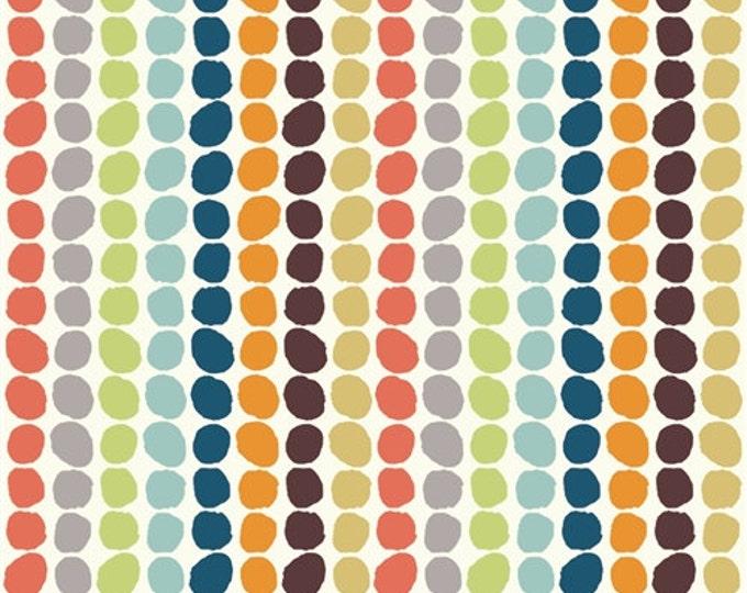 Organic DOUBLE GAUZE Fabric - Pebble Stripe