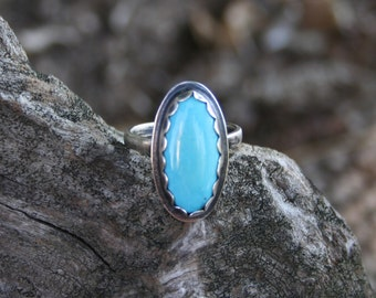 Special Order Custom Sleeping Beauty Turquoise Ring - Available Through Special Order Only