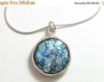 Sale Best Deal  Amazing 925 Silver Roman Glass Wire Pendant Necklace