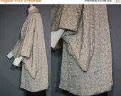 40% OFF Vintage Gray Kimono Floral Gray Black Pink Jacket Robe