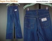 "40% OFF 70s Levis Jeans Vintage 1970s High Waist Wide Leg Denim Farmer Mechanic Minors Plowboy W 26"" XS S XSmall Small"