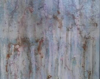 Abstract Minimalist Painting Large 24 x 30 Pink Canvas Wall Art Boho