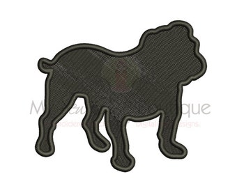 Bulldog Embroidery Design - Machine Embroidery Designs - 8 Sizes - Instant Download
