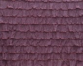 "Destash: 1"" Chocolate Brown ruffle Fabric"