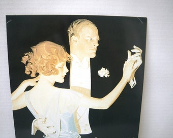 Ballroom Dancers Arrow Collars Ad Repro Metal Sign Ad J C Leyendecker Art Early 1900s