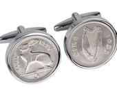 50th Birthday Gift - Lucky 1966 Irish Coin cufflinks 100% satisfaction guaranty