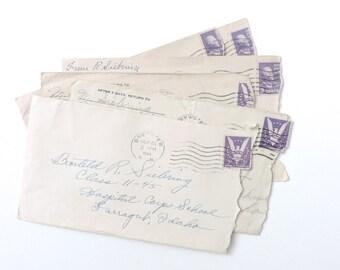Vintage Envelopes 1940s Envelopes Lot of 6