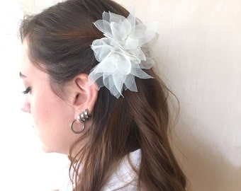Ivory  Lotus Flowers Bridal  Hair Clip / Head Piece