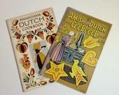 1960's Amish Cookbook  Pennsylvania Dutch Cookbooks set of 2