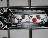 Football Basketball Soccer Ball Baseball ~ D26 ~ Key Chain Fob ~ Zipper Pull