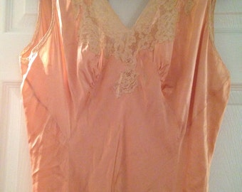 Vintage Silk Beautiful dress night gown hand sewn possibly 1920's The Brynmawr