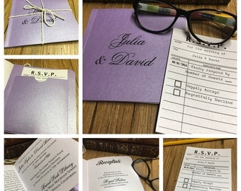 Library Book Wedding Invitation -- Storybook Wedding Invitation -- Literary Wedding Invitation