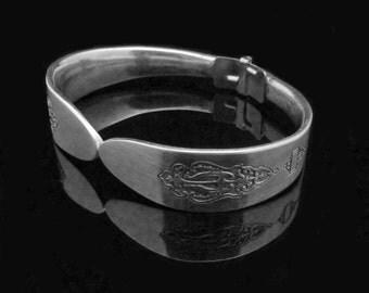 Vintage Spoon Bracelet, Silver Spoon Jewelry, Bird of Paradise MEDIUM fits 6-7 inch wrist