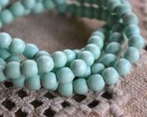 133pcs Sea Foam Wood Natural Beads 6mm Round Macrame Bead