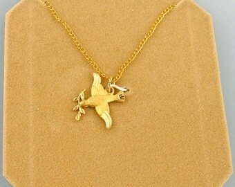 NOS Gold-Filled Dove Necklace